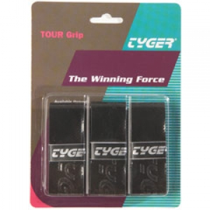 TYGER Tour grip 0.6mm juodos